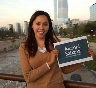 Menú superior perfiles Alumni graduados en el exterior July Jhoanna Niño Contreras 2 unisabana