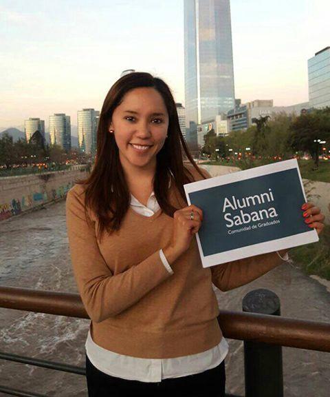 Menú superior perfiles Alumni graduados en el exterior July Jhoanna Niño Contreras unisabana