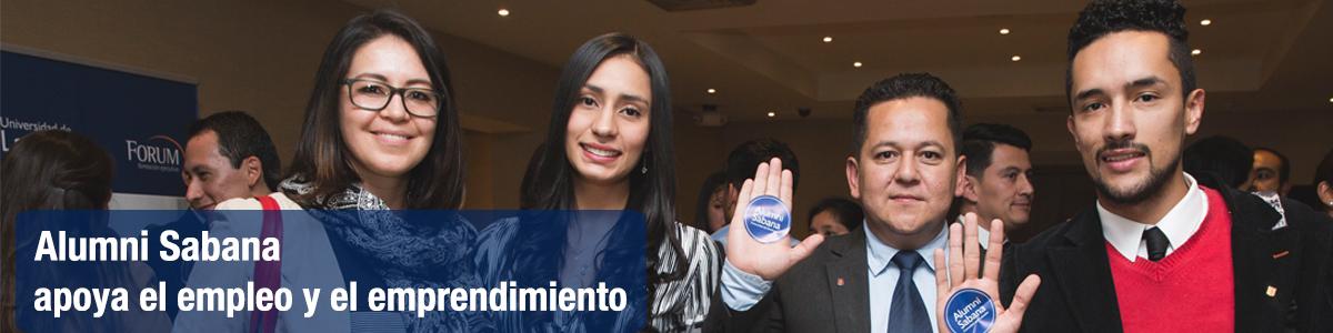 menú superior perfiles Alumni encabezado apoyo el empleo y el emprendimiento unisabana