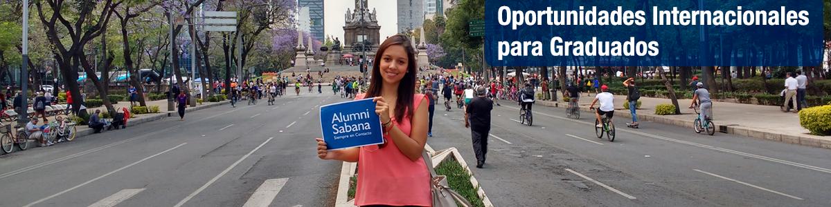 menú superior perfiles Alumni oportunidades de internacionalización para graduados banner unisabana