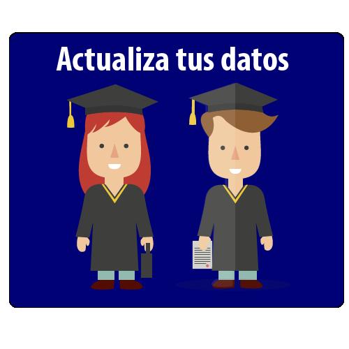 Botón actualiza tus datos Alumni