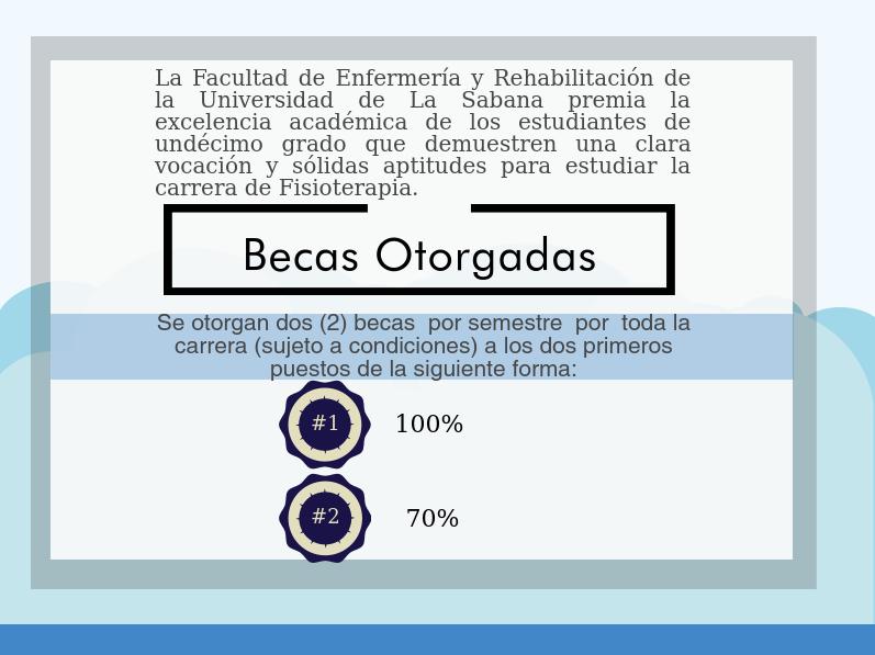 Beca Excelencia en la Universidad de La Sabana, Fisioterapia