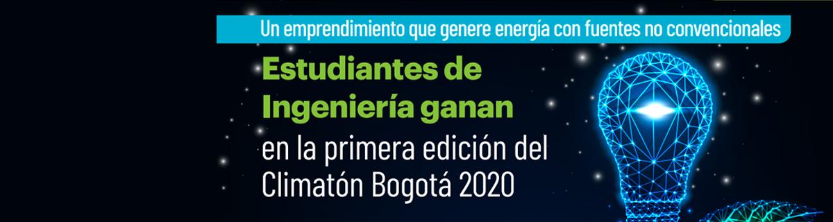 Estudiantes de Ingeniería ganan en la primera edición del Climatón Bogotá 2020