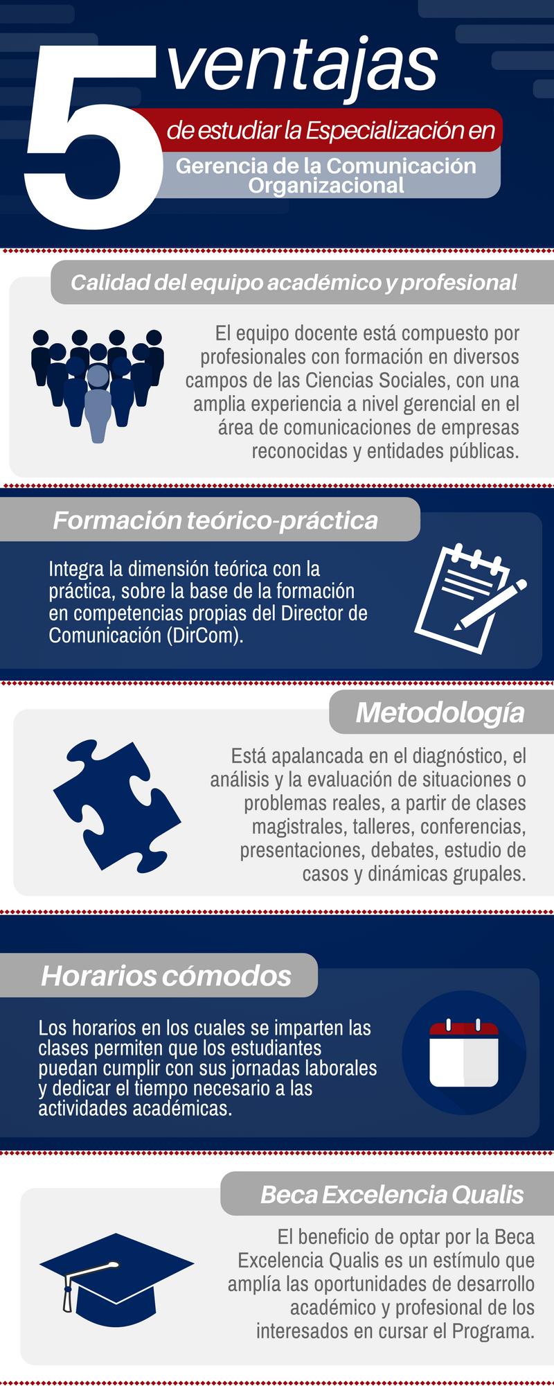 Ventajas de estudiar la Especialización en Gerencia de la Comunicación Organizacional de la Universidad de La Sabana