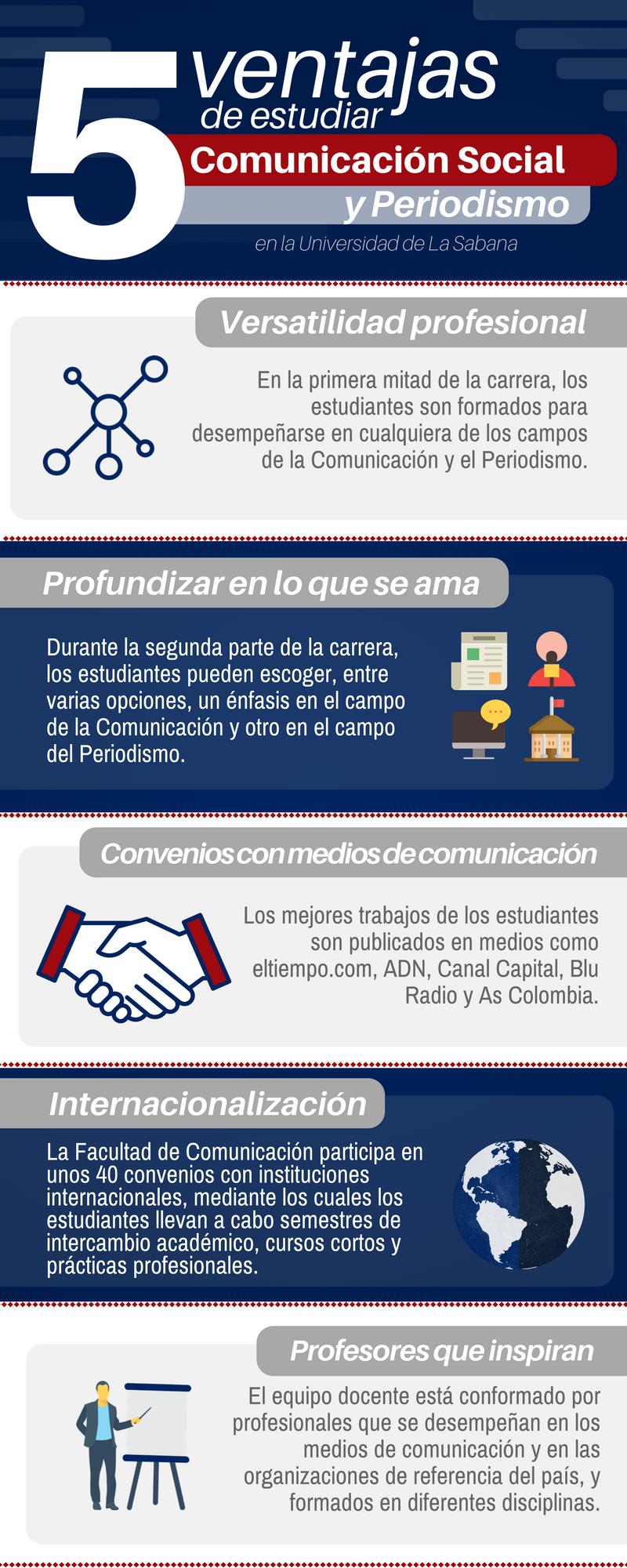Ventajas de estudiar Comunicación Social y Periodismo en la Universidad de La Sabana
