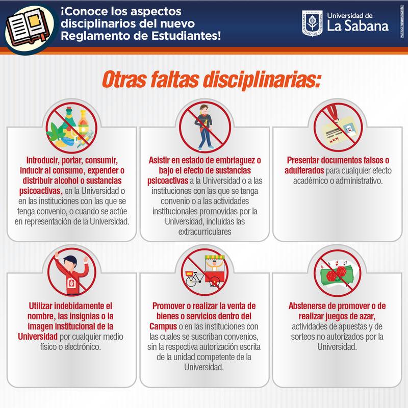 Faltas disciplinarias Universidad de La Sabana