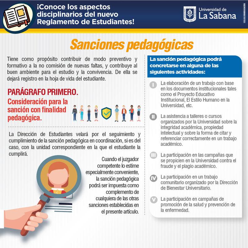 Sanciones pedagógicas Universidad de La Sabana
