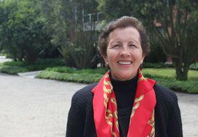 Profesora Mónica Veloza, Facultad de Enfermería y Rehabilitación