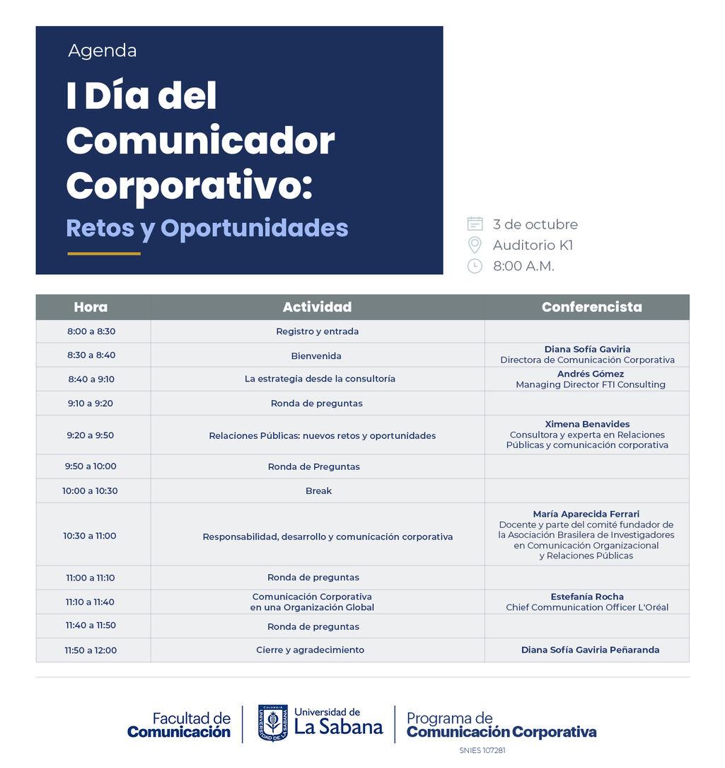 Agenda I Día del Comunicador Corporativo