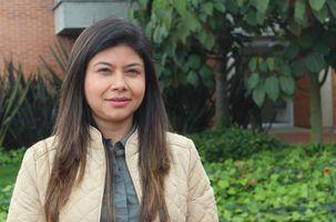Profesora del programa de Fisioterapia, Natalia Rincón Bolívar