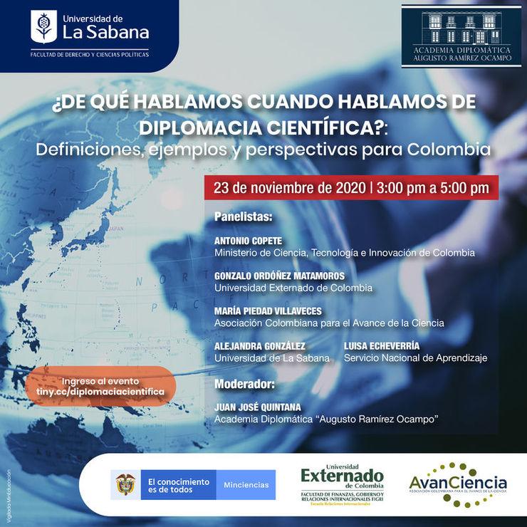 Diplomacia científica, charla Dirección de Relaciones Internacionales de la Universidad de La Sabana