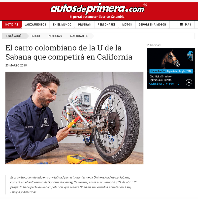 Noticia participación de Shell Eco Marathon