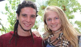 Octavio Ventura y Noelia Zorati. Estudiantes Internacionales de Fisioterapia
