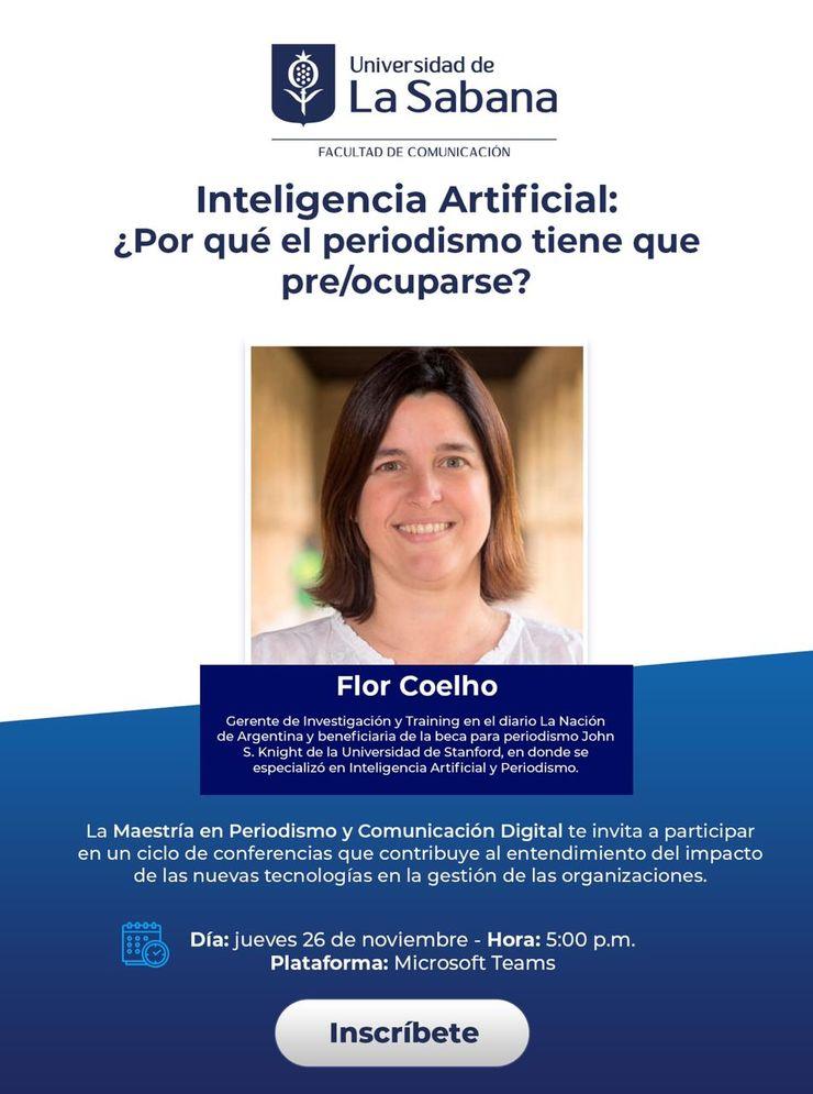 Conferencia Inteligencia artificial. ¿Por qué el periodismo tiene que preocuparse