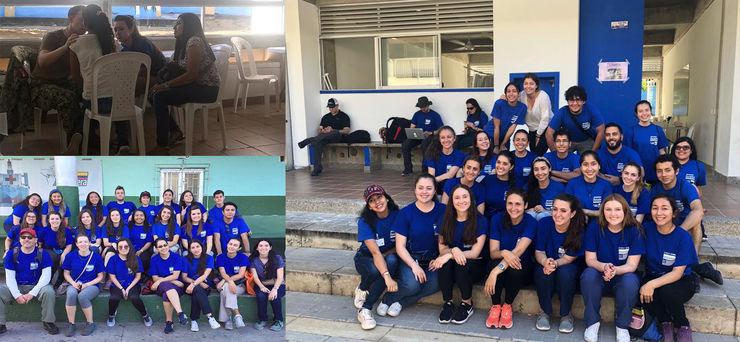 Estudiantes participan en misión humanitaria internacional en La Guajira.