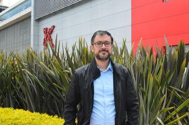 Juan David Cárdenas, profesor de la Facultad de Comunicación