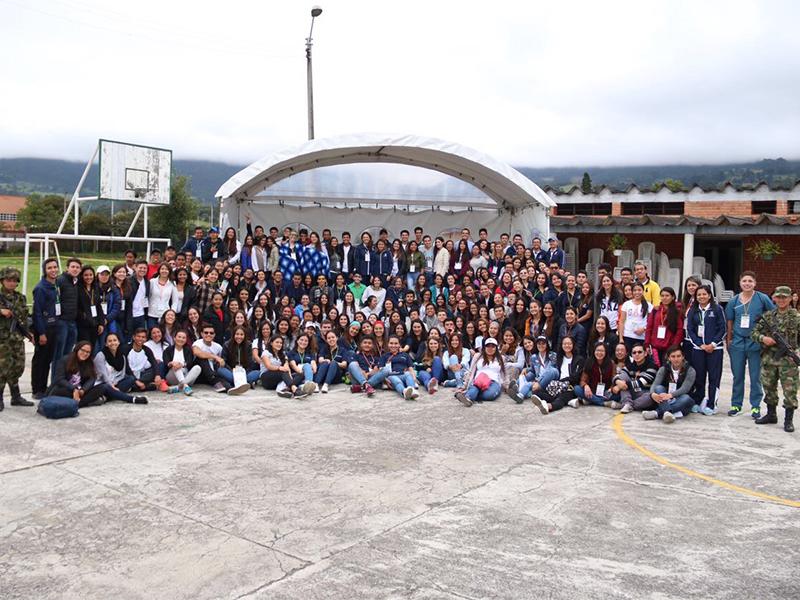 voluntarios reunidos, misión Cogua