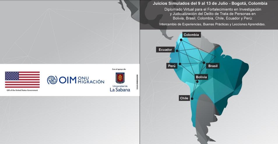 Juicios simulados sobre el delito de trata de personas en Suramérica- OIM- Facultad de Derecho y Ciencias Políticas