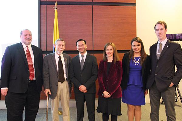 Durante el lanzamiento del Doctorado en Comunicación de la Universidad de La Sabana.