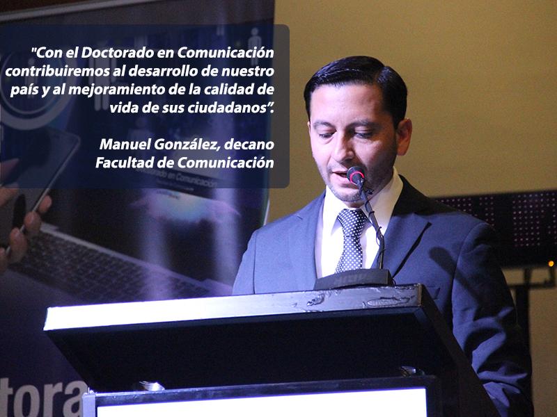 Palabras del decano de Comunicación en lanzamiento Doctorado en Comunicación.