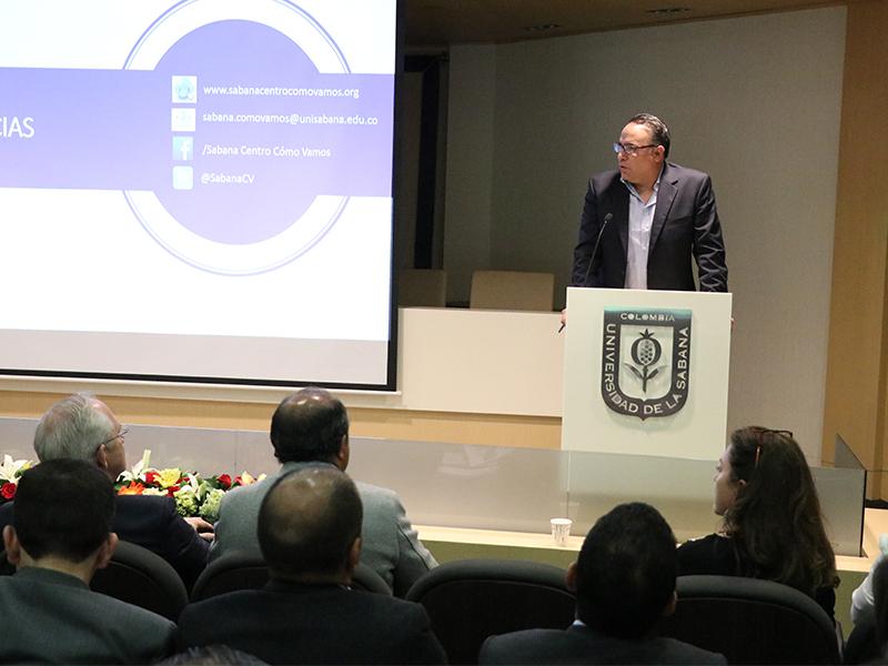 Las empresas participaron en la presentación informe calidad de vida sabana centro unisabana