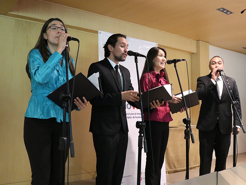 Intervención musical durante la presentación informe calidad de vida sabana centro unisabana