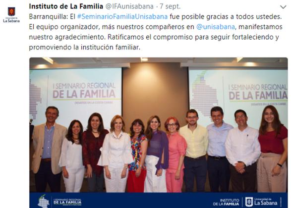 Primer Seminario Regional: desafíos de la familia en la Costa Caribe en redes IFA, unisabana